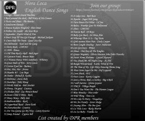 Hora Loca English Song List